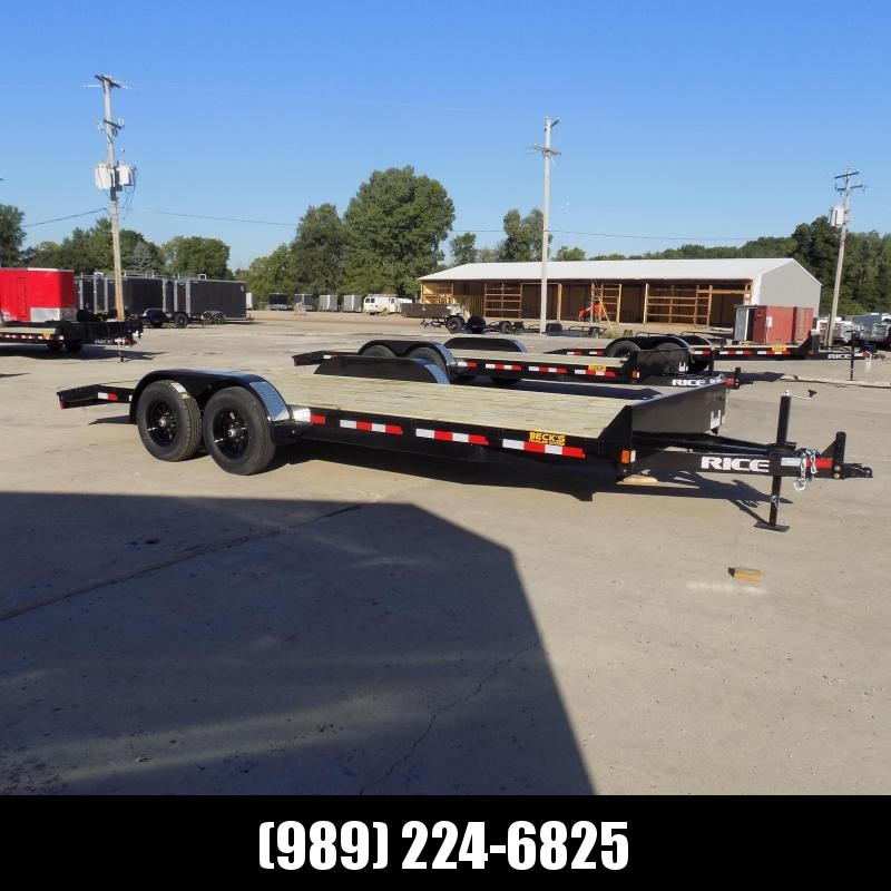 "New Rice Trailers 82"" x 20' Open Car Hauler With 5200# Axles - $0 Down & Payments From $105/mo. W.A.C."