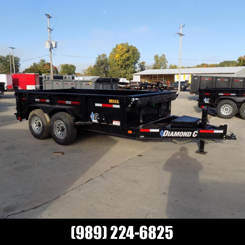 """New Diamond C 82"""" x 12' Low Profile Dump Trailer - $0 Down & payments From $125/mo. W.A.C."""