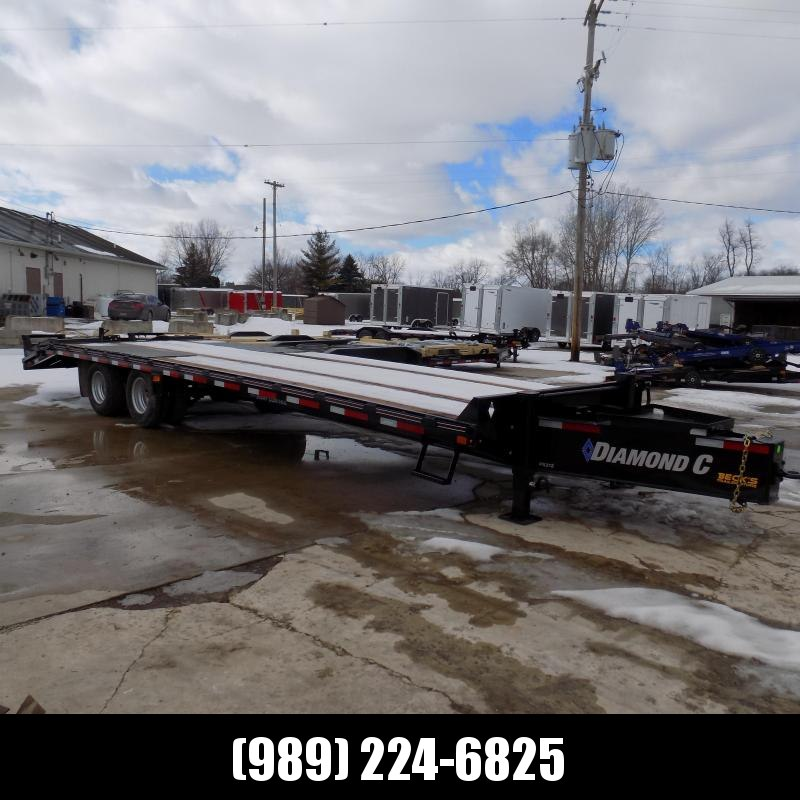 """New Diamond C Trailers PX212 102"""" x 30' Equipment Trailer w/ Pintle Hitch and 25.9K Weight Rating - Flexible $0 Down Financing Options Available"""