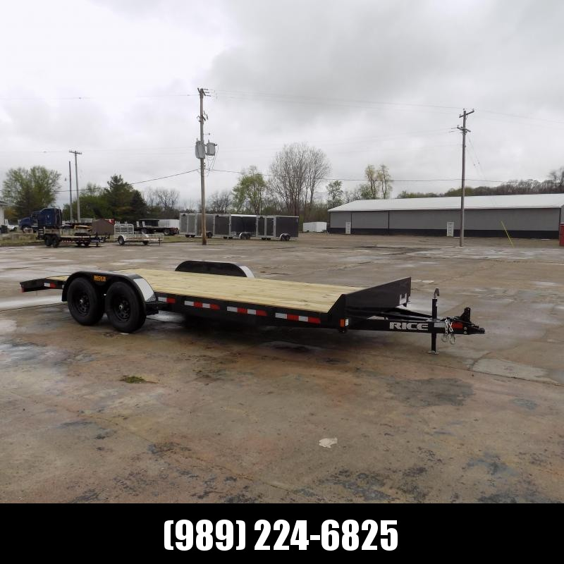 "New Rice Trailers 82"" x 20' Open Car Hauler With 5200# Axles - $0 Down & Payments From $119/mo. W.A.C."