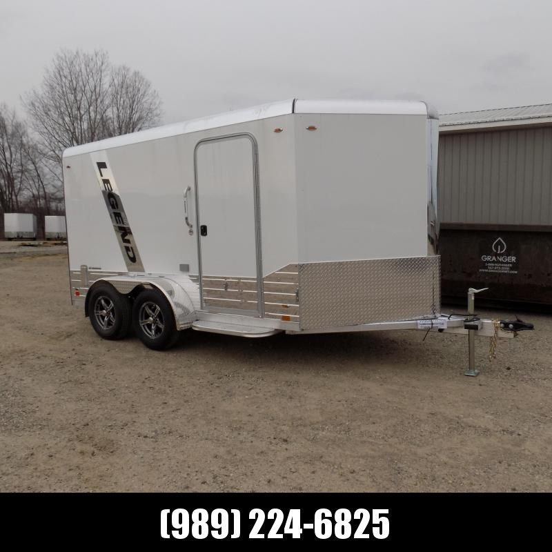 New Legend Deluxe V Nose 7' X 15' All Aluminum Cargo Trailer For Sale - $0 Down & Payments from $115/mo. W.A.C.