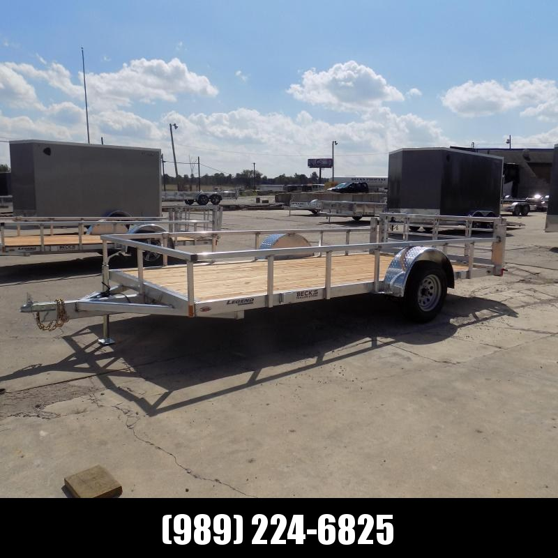 New Legend Open Deluxe 7' x 14' Aluminum Utility - $0 Down & Payments From $101/mo. W.A.C.
