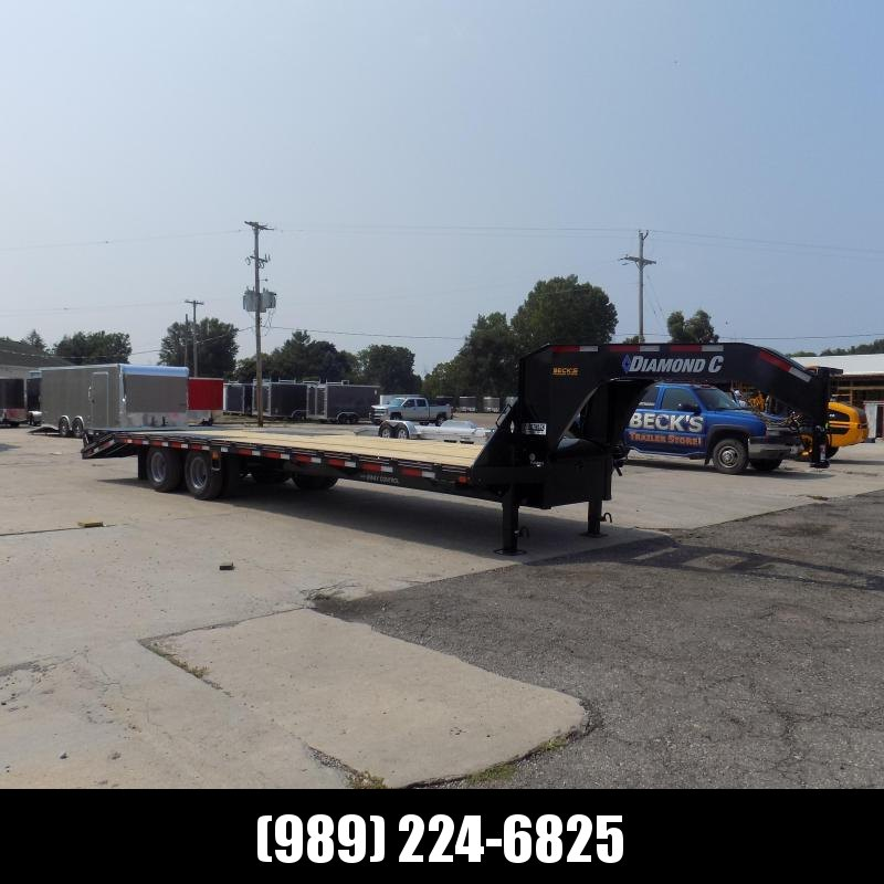 """New Diamond C Trailers 102"""" x 30' Gooseneck Equipment Trailer With 25K Weight Rating - $0 Down Financing Available"""