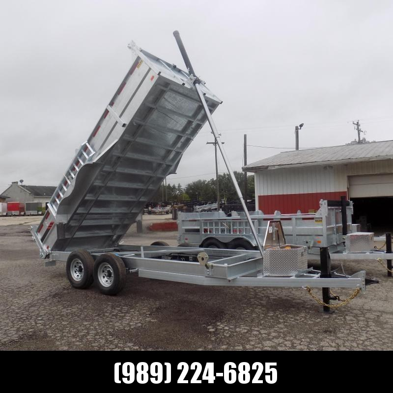"""New Galvanized 80"""" x 16' Dump Trailer with 24K Telescopic Lift - $0 Down & Payments from $159/mo. W.A.C."""