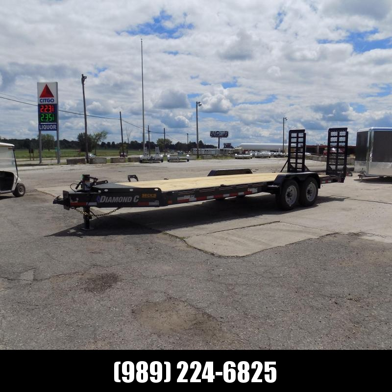 """New Diamond C Trailers 82"""" x 22' Heavy Duty Equipment Trailer - 10K Axles - $0 Down & Payments from $129/mo. W.A.C."""
