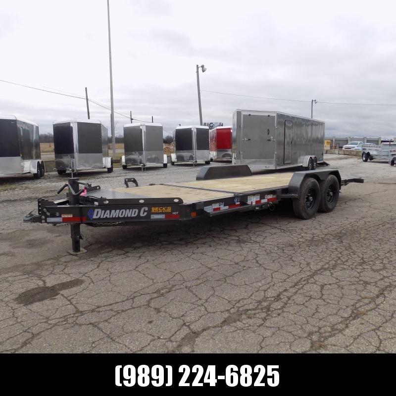 "New Diamond C Trailers 82"" x 20' Tilt Deck Equipment Trailer - $0 Down & Payments from $135/mo. W.A.C."
