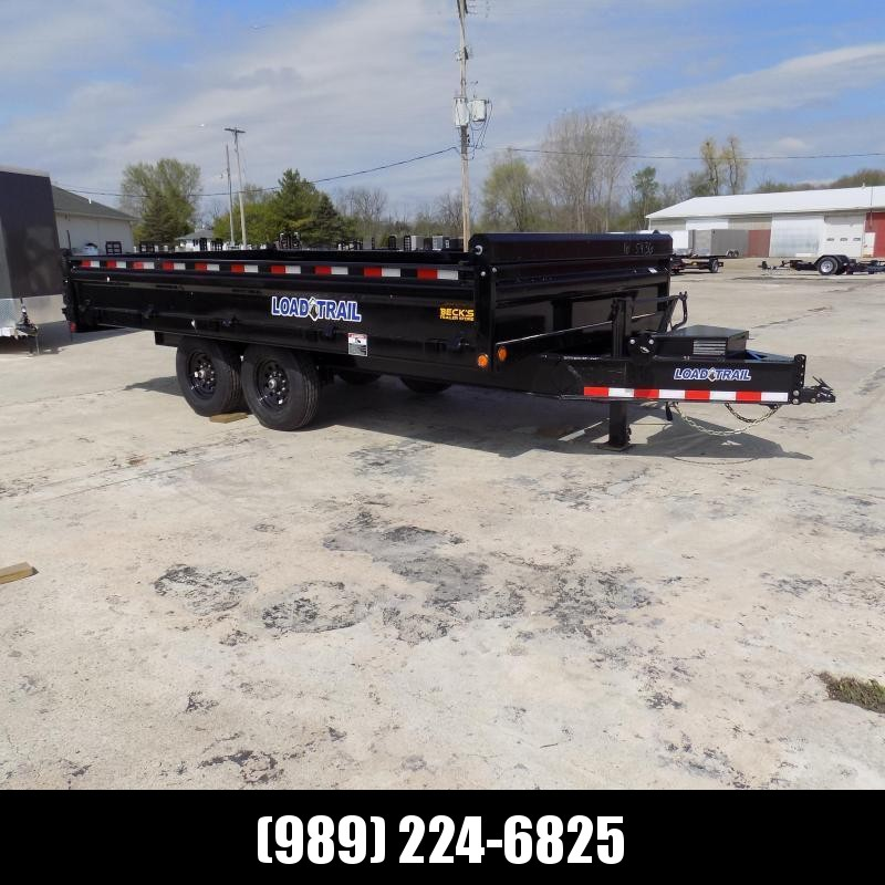 "New Load  Dump Trailer 96"" x 16' Deckover Dump Trailer With Fold-Down Sides - $0 Down & Payments From $124/mo W.A.C."