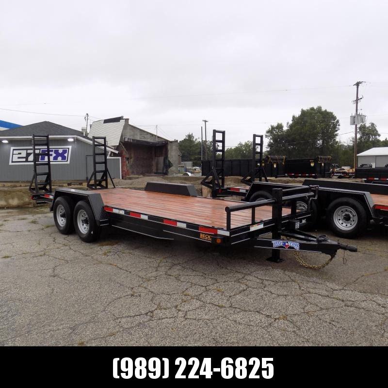 "New Texas Bragg Trailer 83"" x 20' Open Car Hauler/Equipment Trailer With 7K Axles - $0 Down w/Flexible Financing Available"
