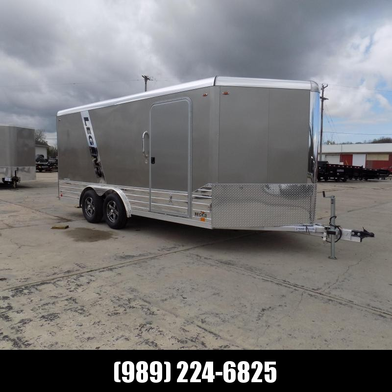 New Legend Deluxe V-Nose 8' x 19' Enclosed Cargo Trailer - $0 Down & $119/mo. W.A.C.