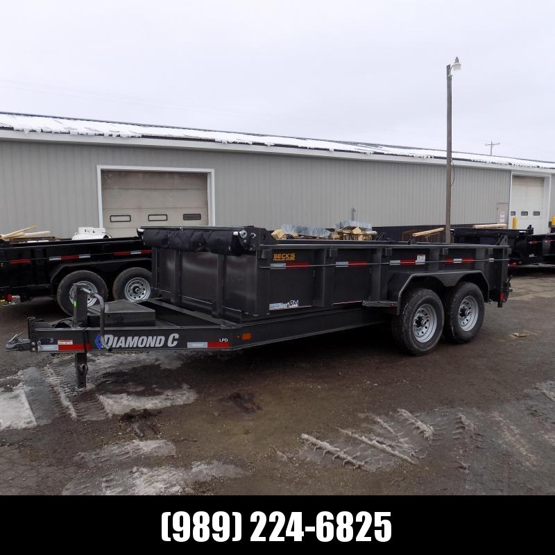 """New Diamond C 82"""" x 14' Low Profile Dump Trailer For Sale - $0 Down & Payments from $133/mo. W.A.C."""