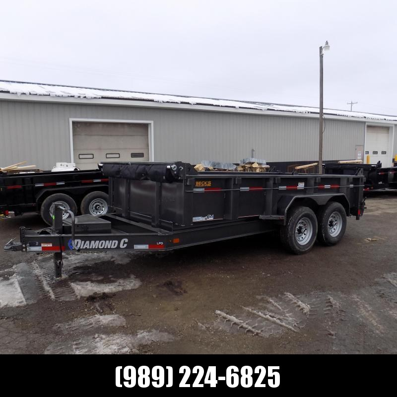 "New Diamond C 82"" x 14' Low Profile Dump Trailer For Sale - $0 Down & Payments from $133/mo. W.A.C."