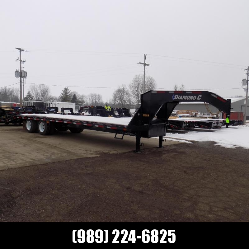 """New Diamond C Trailers 102"""" x 30' Gooseneck Equipment Trailer With 25.9K Weight Rating - $0 Down Financing Available"""