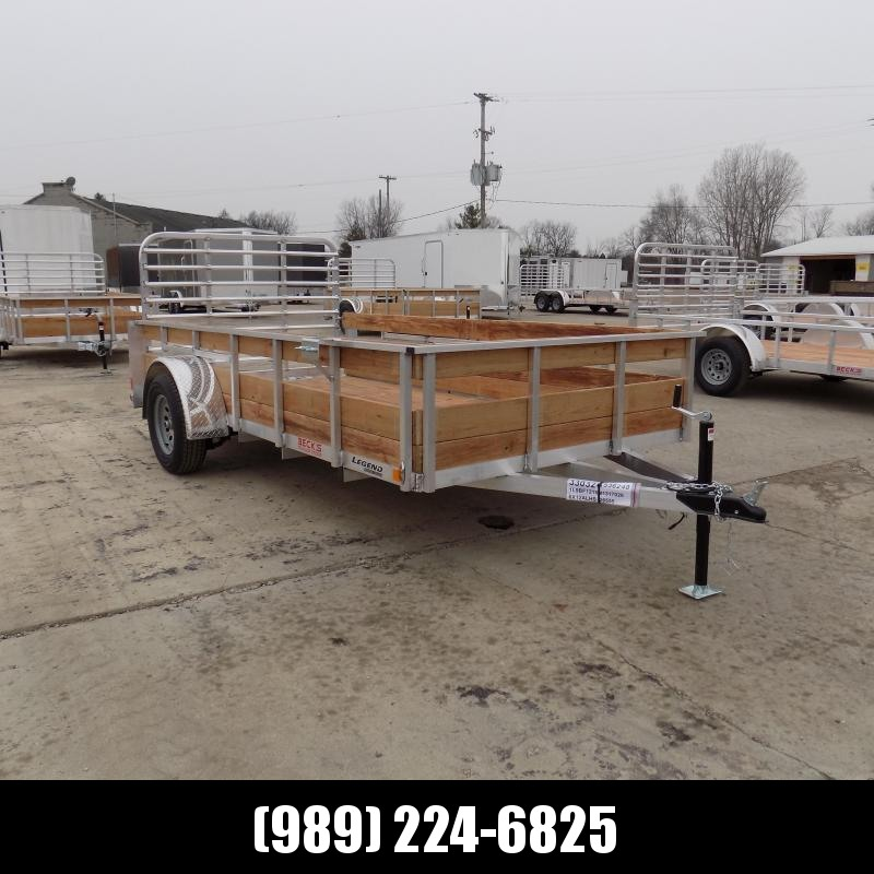 New Legend 6' x 12' Aluminum High Side Utility Trailer For Sale - $0 Down & Payments From $59/mo. W.A.C.