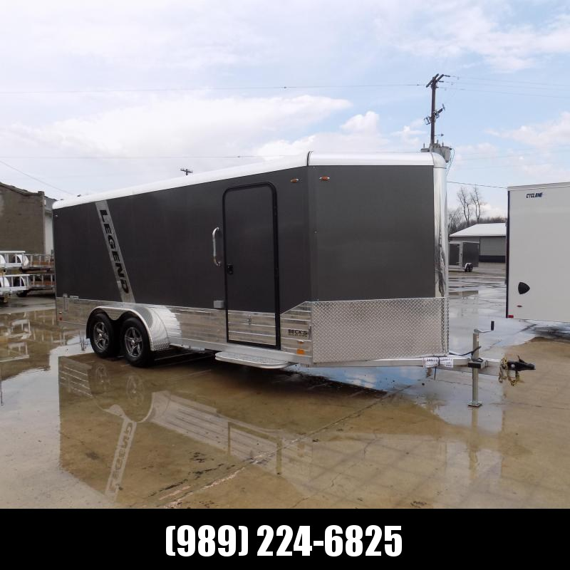 New Legend Deluxe V Nose 7' X 21' All Aluminum Cargo Trailer - $0 Down & Payments from $127/mo. W.A.C.