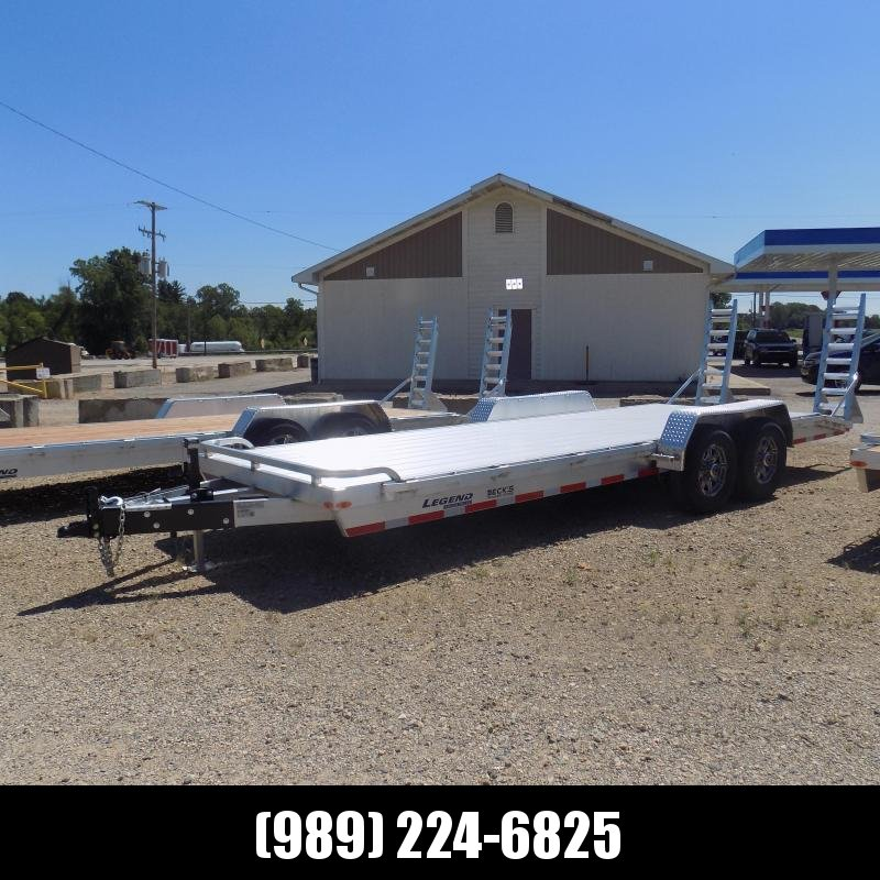 New Legend 7' x 22' Aluminum Equipment Trailer With 7K Torsion Axles - $0 Down & Payments from $129/mo. W.A.C