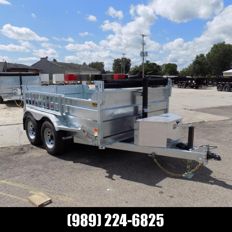 New Galvanized 6' x 10' Dump Trailer with Telescopic Lift - Corrosion Resistant