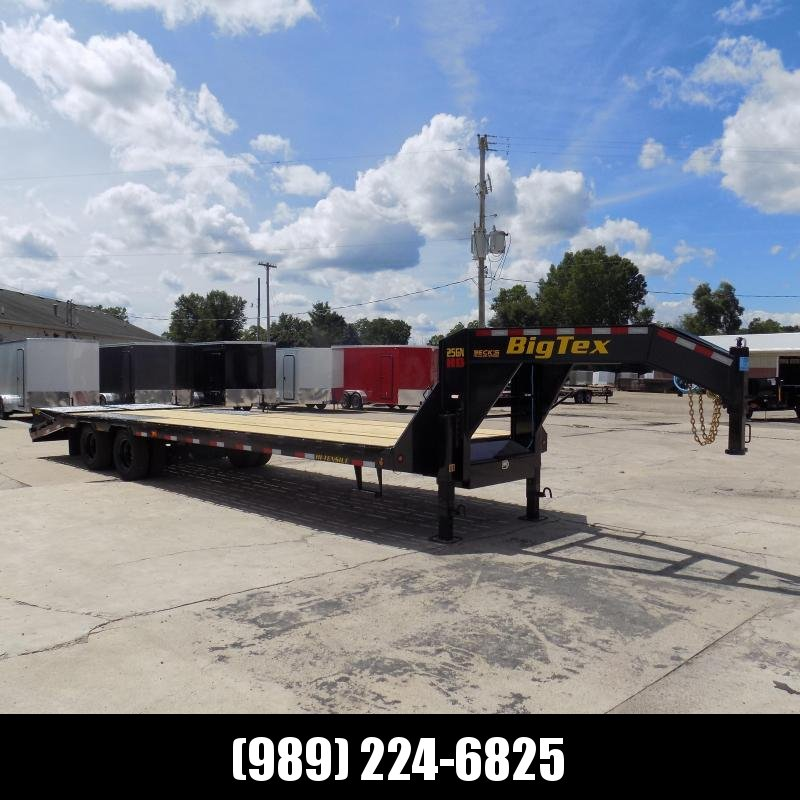 """New Big Tex 102"""" x 25' + 5' Gooseneck Trailer w/ 25900# Weight Rating - $0 Down Financing Available"""