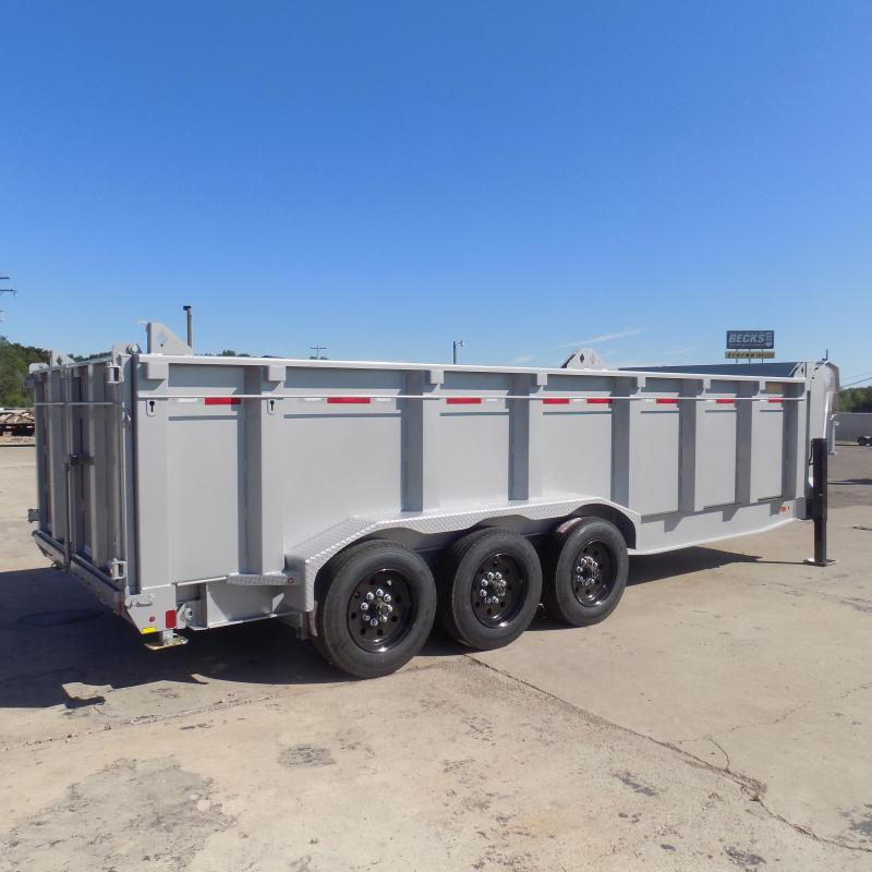New Diamond C Trailers 7' x 20' Low Profile Dump Trailer - NEARLY 17k PAYLOAD CAPACITY - 44'' Sides - Financing Available