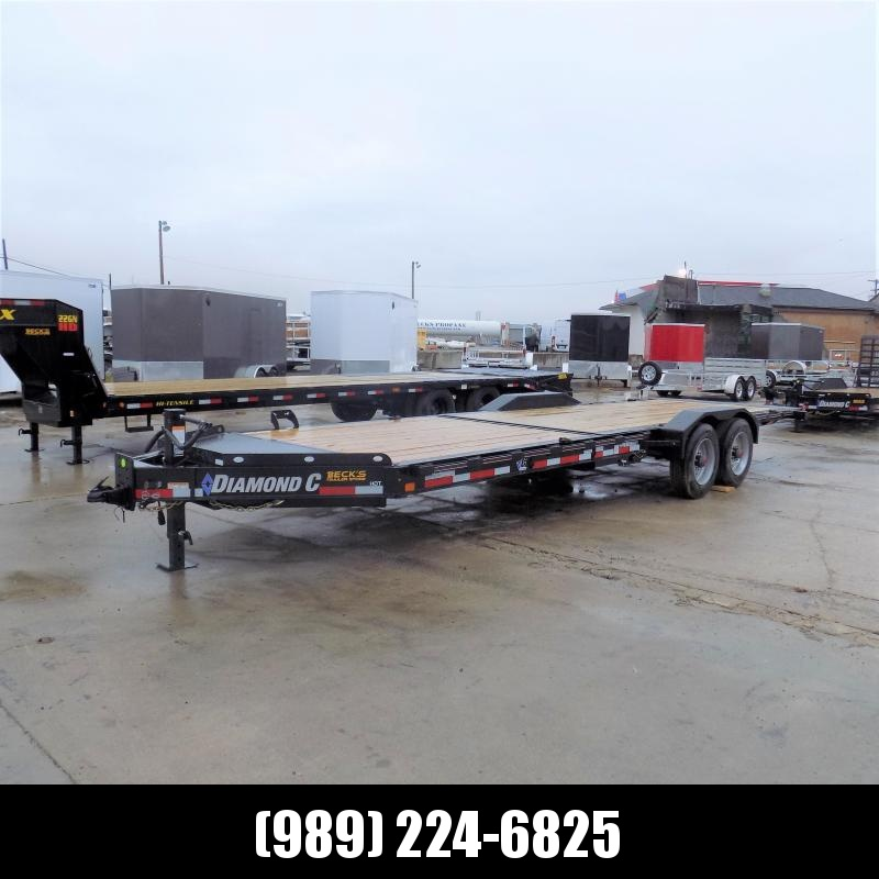 """New Diamond C Trailers 82"""" x 24' Heavy-Duty Tilt Deck Equipment Trailer - 10K Torsion Axles - $0 Down & Payments from $145/mo. W.A.C."""