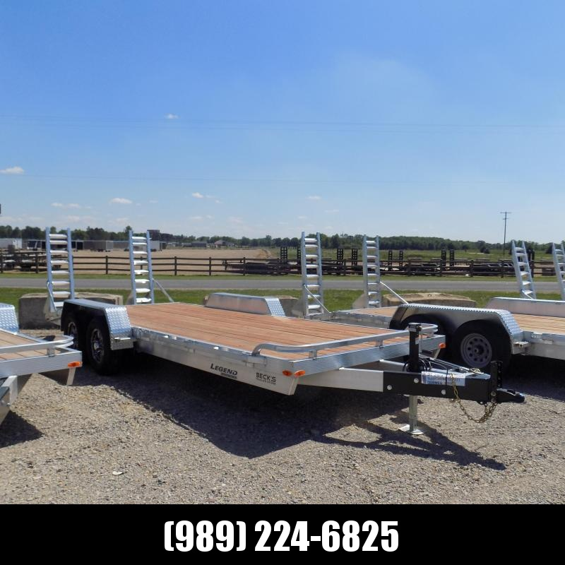 New Legend 7' x 20' Aluminum Equipment Trailer For Sale - $0 Down & Payments from $137/mo. W.A.C