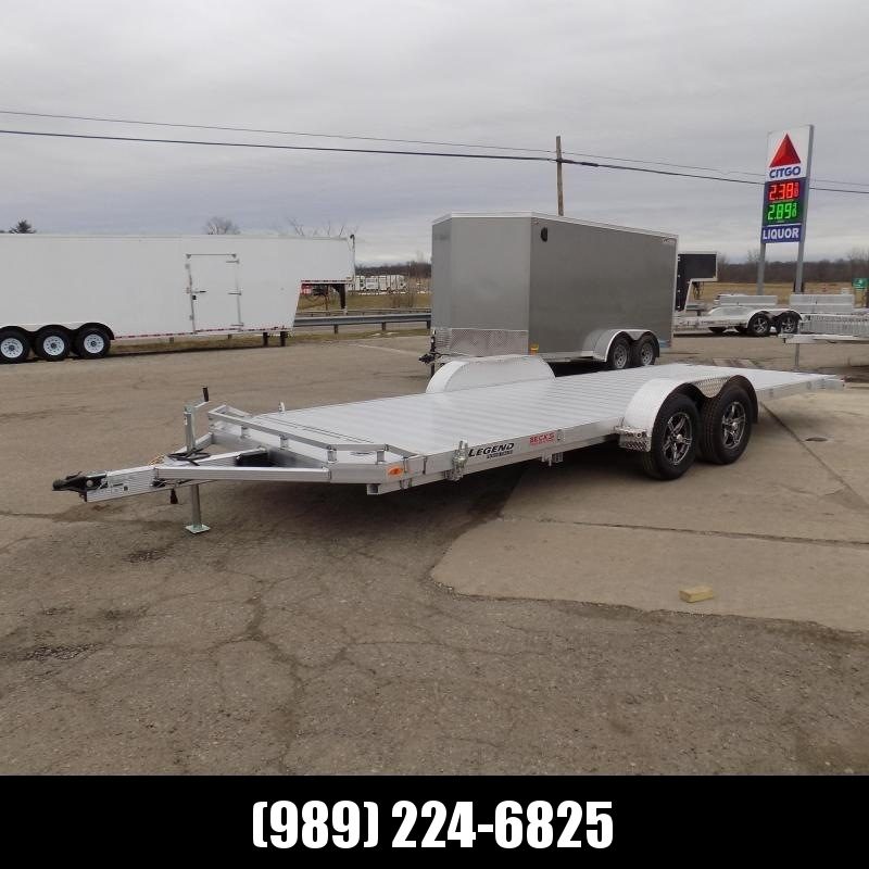 New Legend 7' x 22' Aluminum Tilt Deck Car Hauler - $0 Down & Payments From $133/mo. W.A.C.