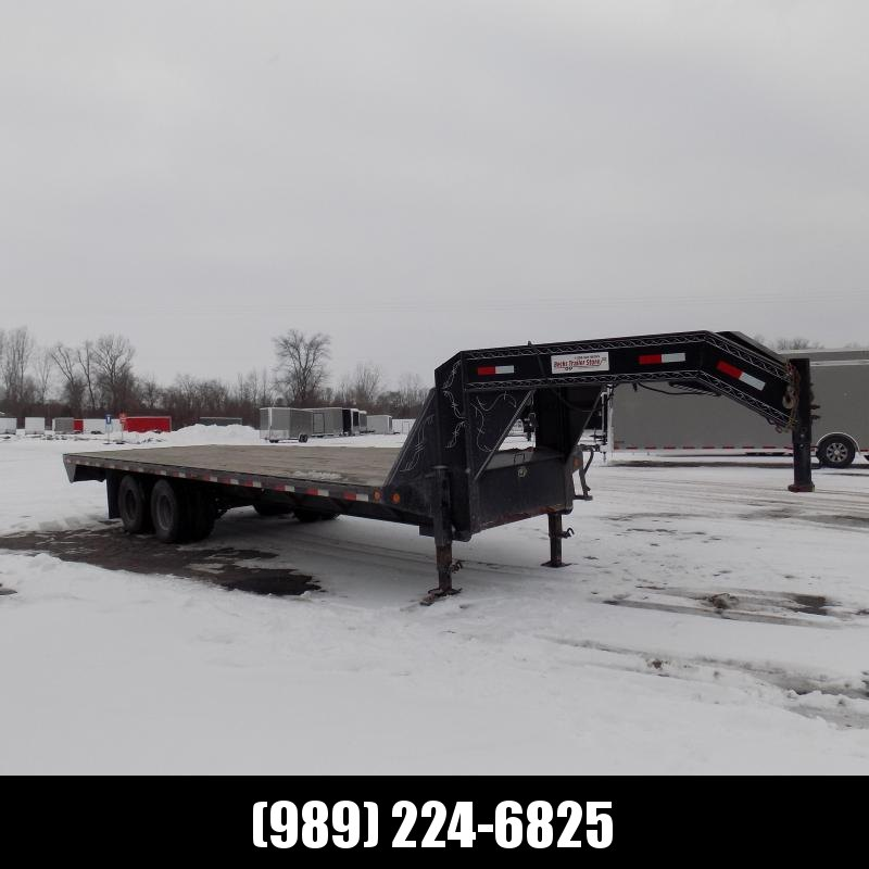 """Used Load Trail 102"""" x 25' Gooseneck Equipment Trailer For Sale - New Trade - Call For More Details"""