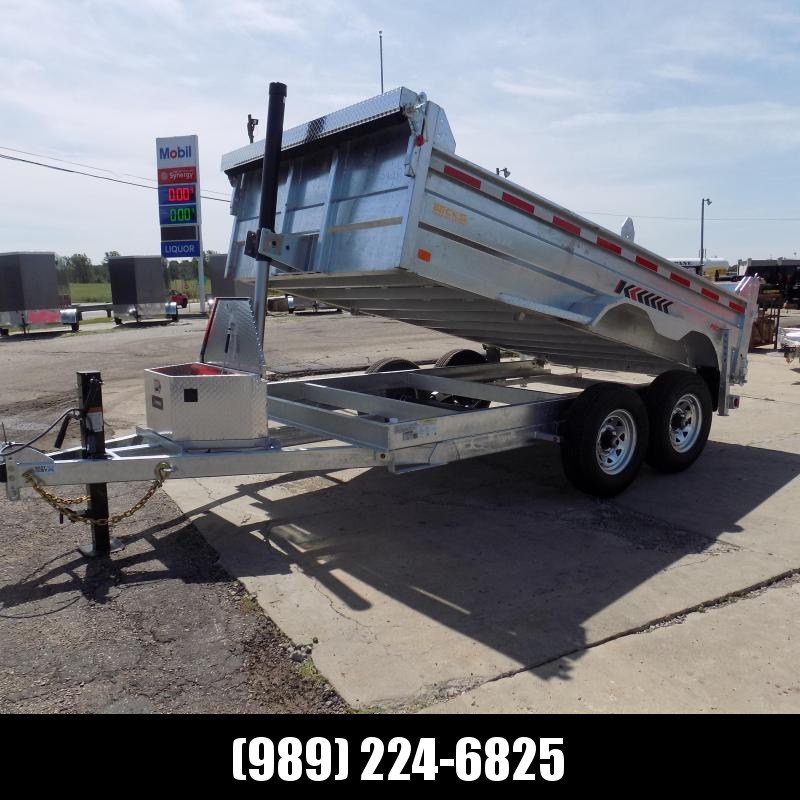 New Galvanized 7 x 12' Dump Trailer with Telescopic Lift - Corrosion Resistant - $0 Down & Payments From $155/mo. W.A.C.