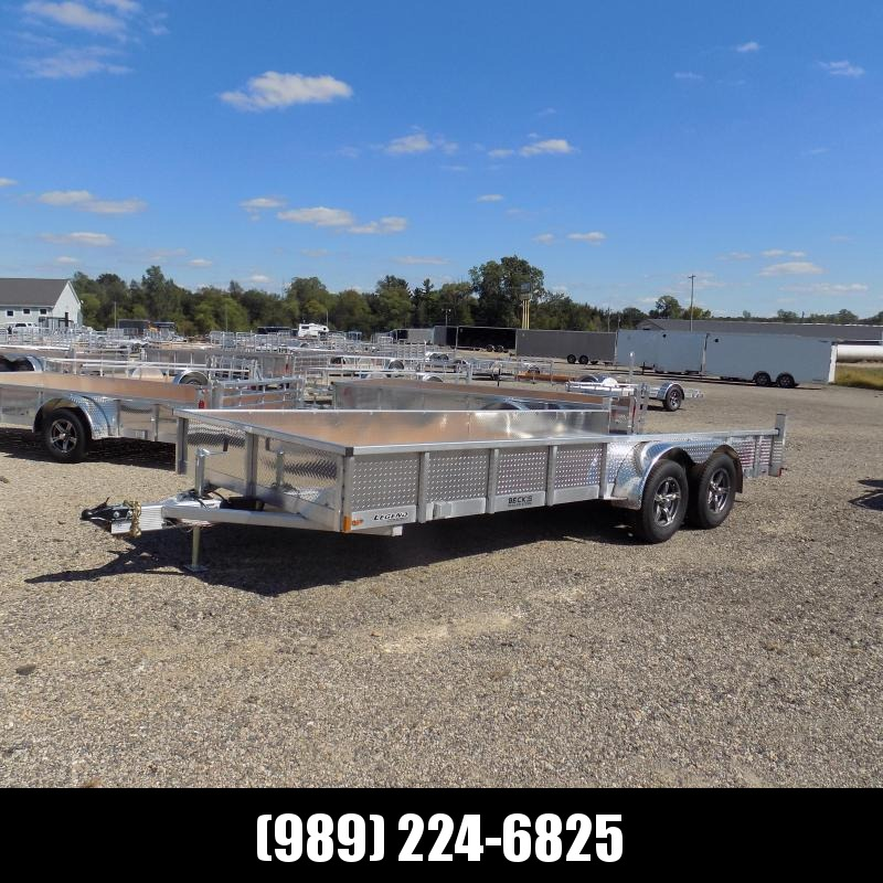 New Legend 7' x 18' Open Aluminum Equipment Trailer For Sale - $0 Down & Payments from $115/mo. W.A.C