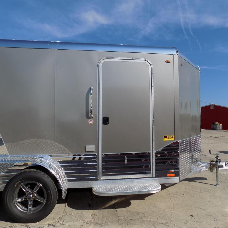 New Legend Deluxe V Nose 7' X 17' Aluminum Enclosed Cargo Trailer For Sale