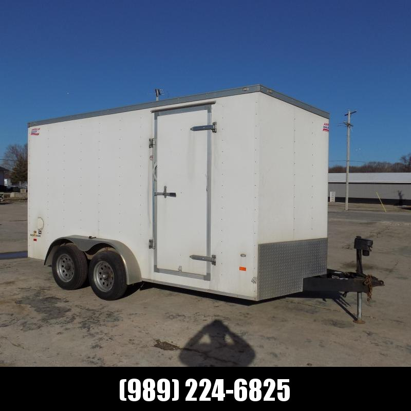 Used American Hauler 7' x 14'  Enclosed Cargo Trailer For Sales