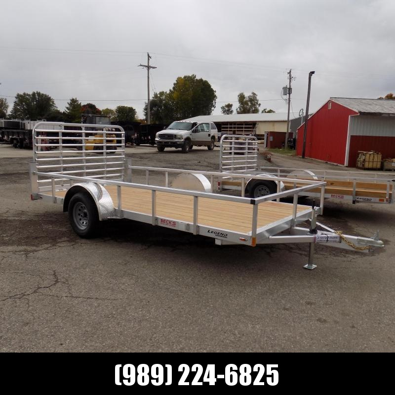 New Legend Open Deluxe 7' x 14' Aluminum Utility Trailer - $0 Down & Payments From $69/mo. W.A.C.