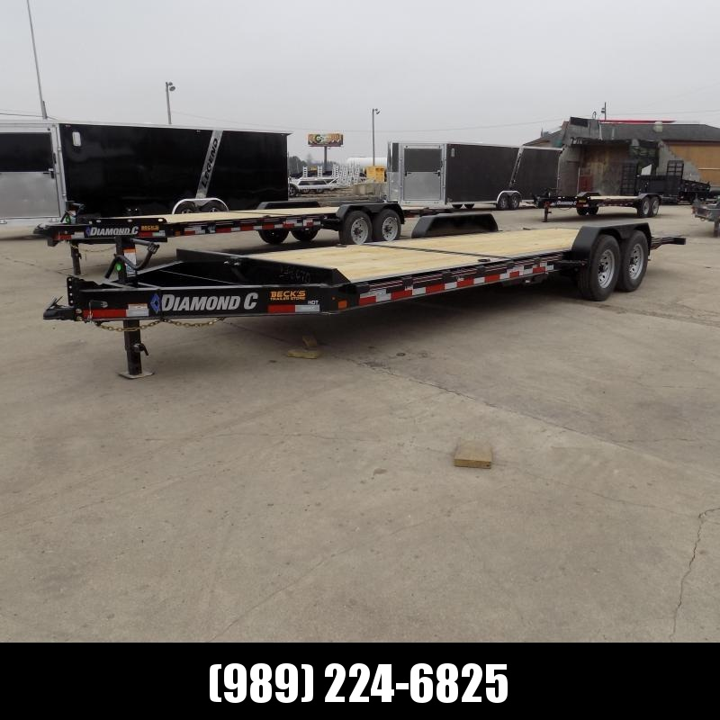 """New Diamond C Trailers 82"""" x 24' Tilt Deck Equipment Trailer - $0 Down & Payments from $131/mo. W.A.C."""