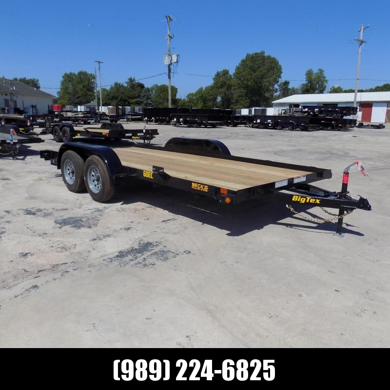 New Big Tex 7' x 16' Open Car Hauler For Sale - $0 Down & Payments From $69/mo. W.A.C.