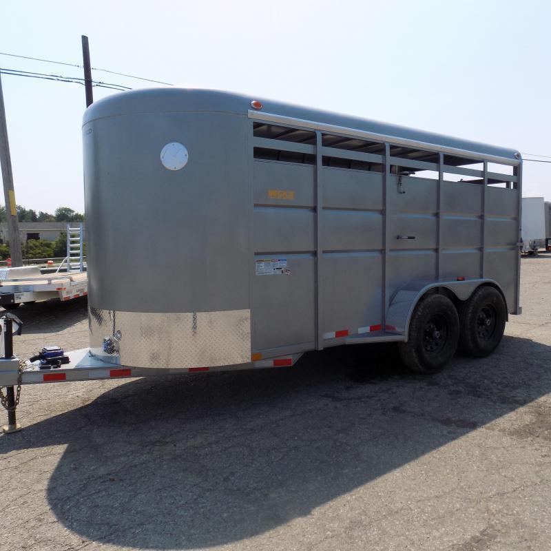 New Delco Trailers 6' X 16' Livestock Trailer - $0 Down & $145/mo W.A.C