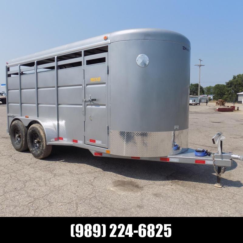 2021 Delco Trailers 6X16TA6 Livestock Trailer - $0 Down & $145/mo W.A.C