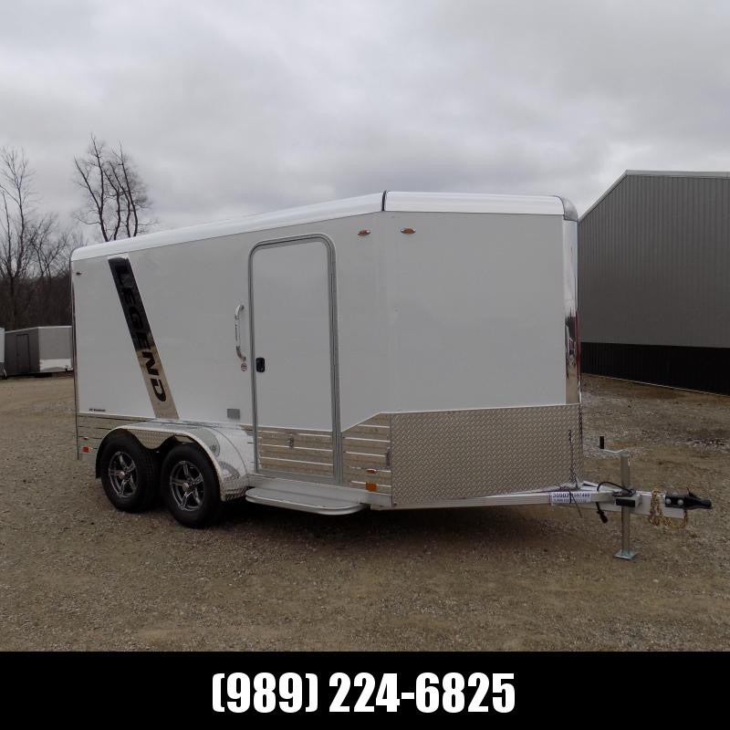New Legend Deluxe V Nose 7' X 15' All Aluminum Cargo Trailer For Sale - $0 Down & Payments from $113/mo. W.A.C.