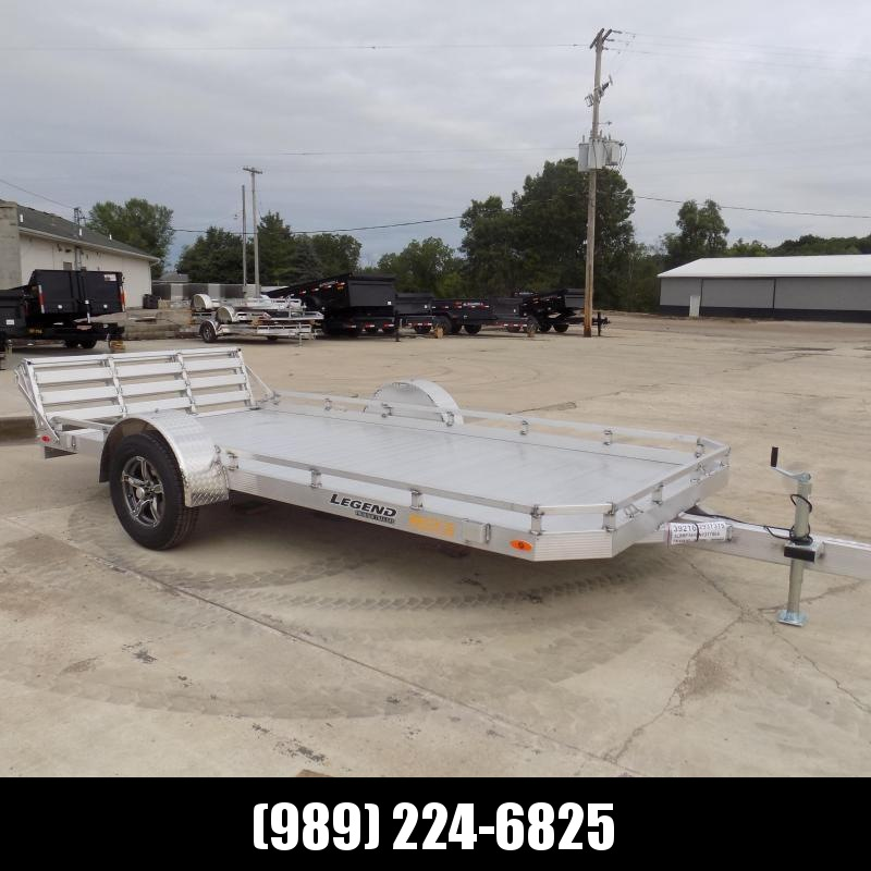 New Legend All Aluminum 7' x 14' Utility Trailer With Aluminum Deck & 3-Way Gate - $0 Down & $103/mo. W.A.C.