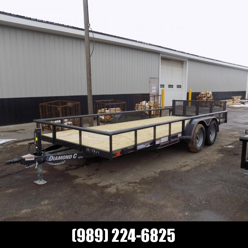 New Diamond C Trailers 7' x 18' Tandem Axle Utility Trailer With Bi-Fold Gate - $0 Down & $95/mo. W.A.C.