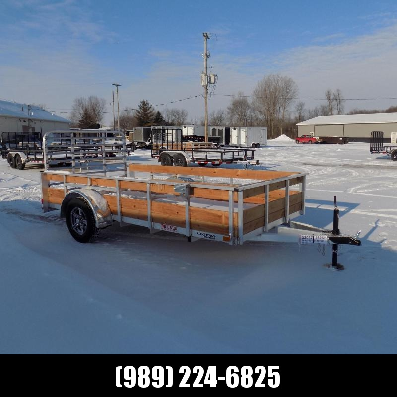 New Legend 6' x 12' Aluminum High Side Utility Trailer For Sale - $0 Down & Payments From $61/mo. W.A.C.