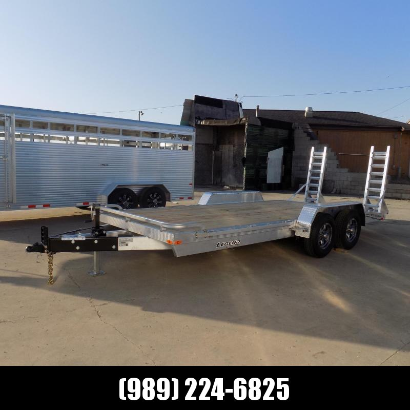 New Legend 7' x 18' Aluminum Equipment Trailer For Sale - $0 Down & Payments from $127/mo. W.A.C