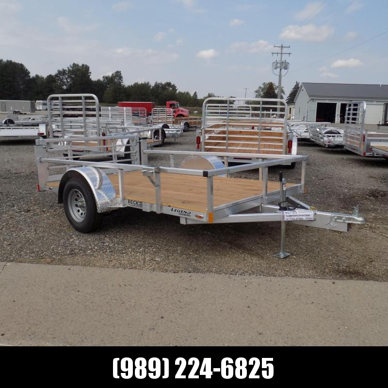 New Legend Open Deluxe 6' x 10' Aluminum Utility - $0 Down & Payments From $81/mo. W.A.C.