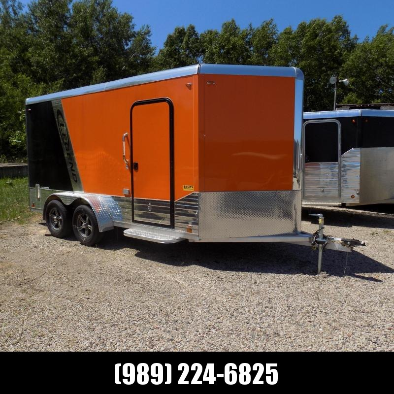 Used 2020 Legend Deluxe V-Nose 7' x 17' Enclosed Cargo Trailer - LOADED & LIKE NEW!