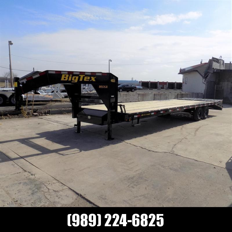 "New Big Tex Trailers 102"" x 25'+5' Gooseneck Trailer With Mega Ramps - $0 Down & $155/mo. W.A.C."