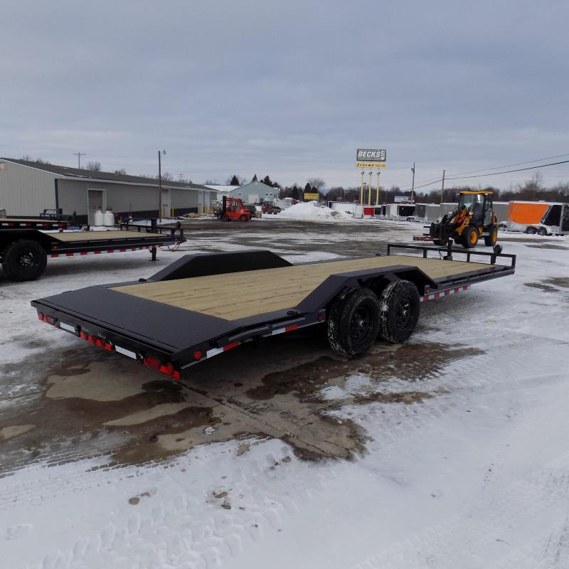 """New Load Trailer 102"""" x 22' Car Hauler Trailer With Drive-Over Fenders"""