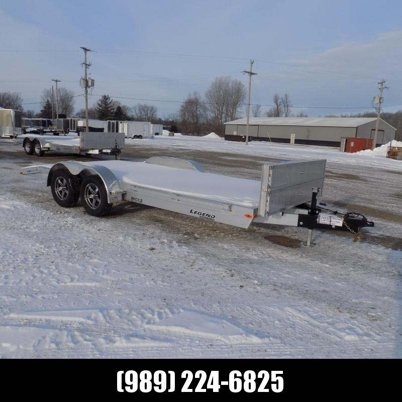 New Legend 7' x 18' Aluminum Open Car Hauler - Torsion Axles - $0 Down & Payments From $117/mo. W.A.C.