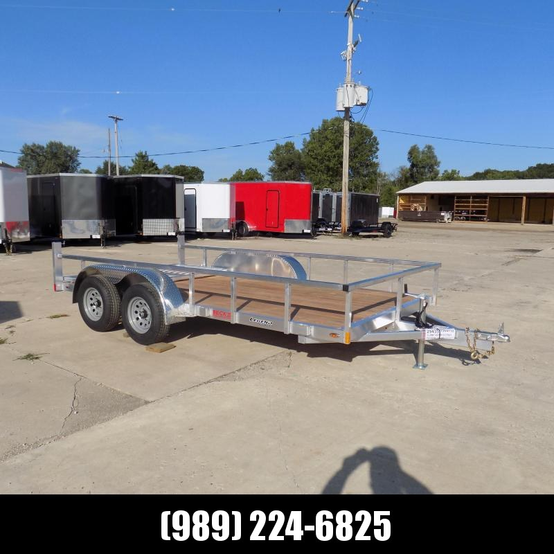 New Legend Open Deluxe 7' x 14' Aluminum Utility Trailer - $0 Down & Payments From $99/mo. W.A.C.