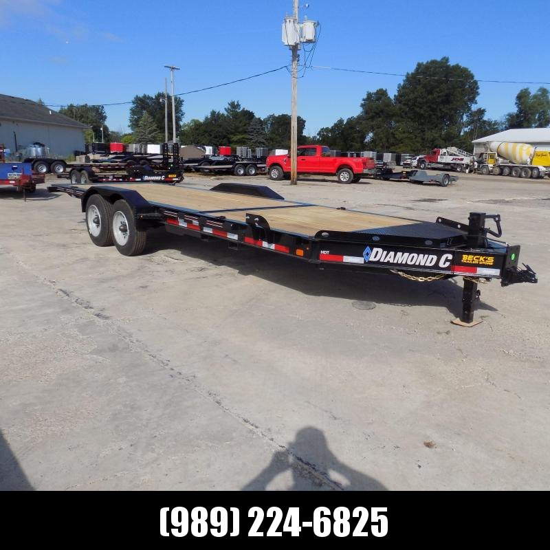 "New Diamond C Trailers 82"" x 22' Heavy-Duty Tilt Deck Equipment Trailer - 10K Torsion Axles - $0 Down & Payments from $159/mo. W.A.C."