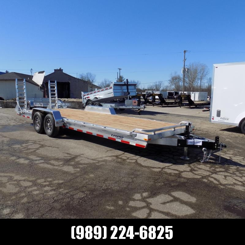 New Legend 7' x 24' Aluminum Equipment Trailer With 7K Axles & 11,660# Payload - $0 Down & Payments from $117/mo. W.A.C