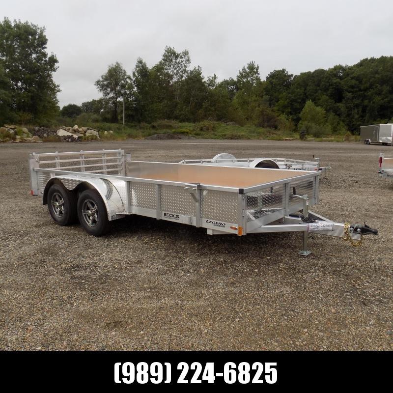 New Legend Aluminum 7' x 14' Open Utility Trailer - $0 Down & $107/mo. W.A.C.