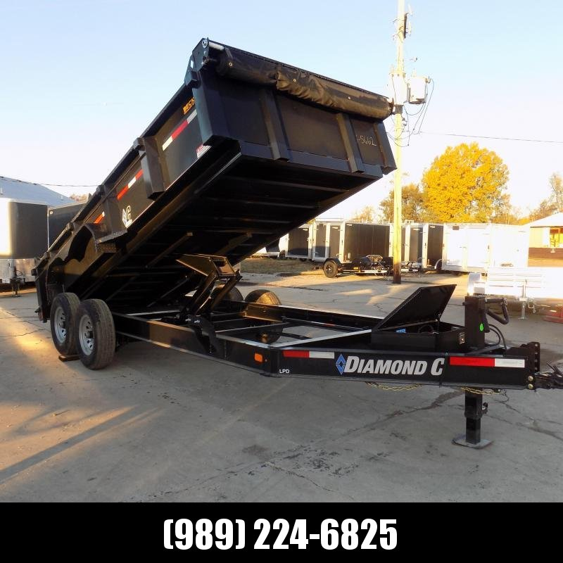 "New Diamond C 82"" x 16' Low Profile Dump Trailer - $0 Down & Payments From $139/mo. W.A.C."